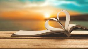 Open Book-Heart