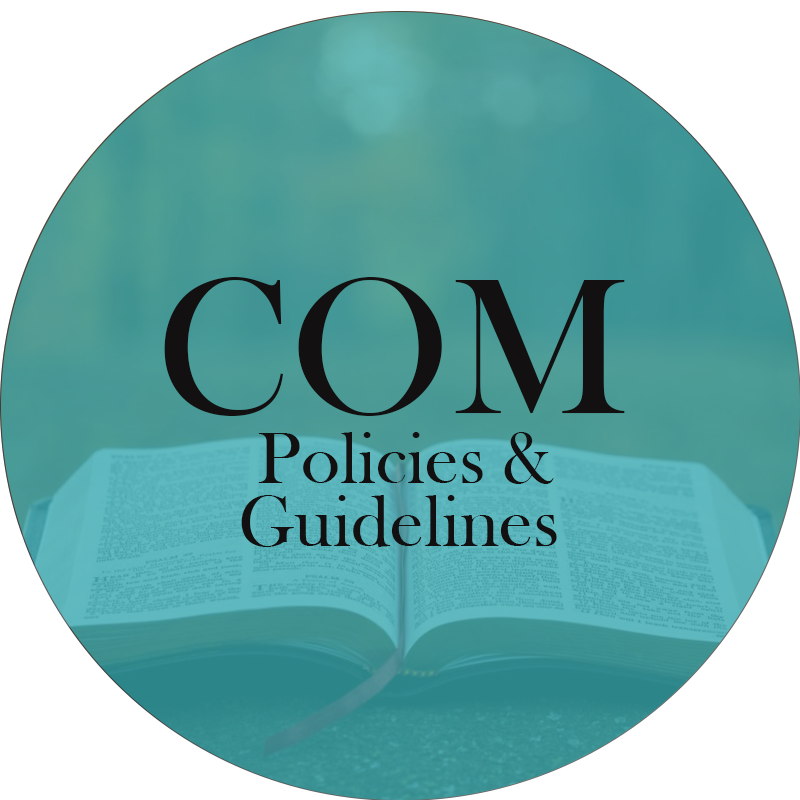 COM policies & guidelines circle